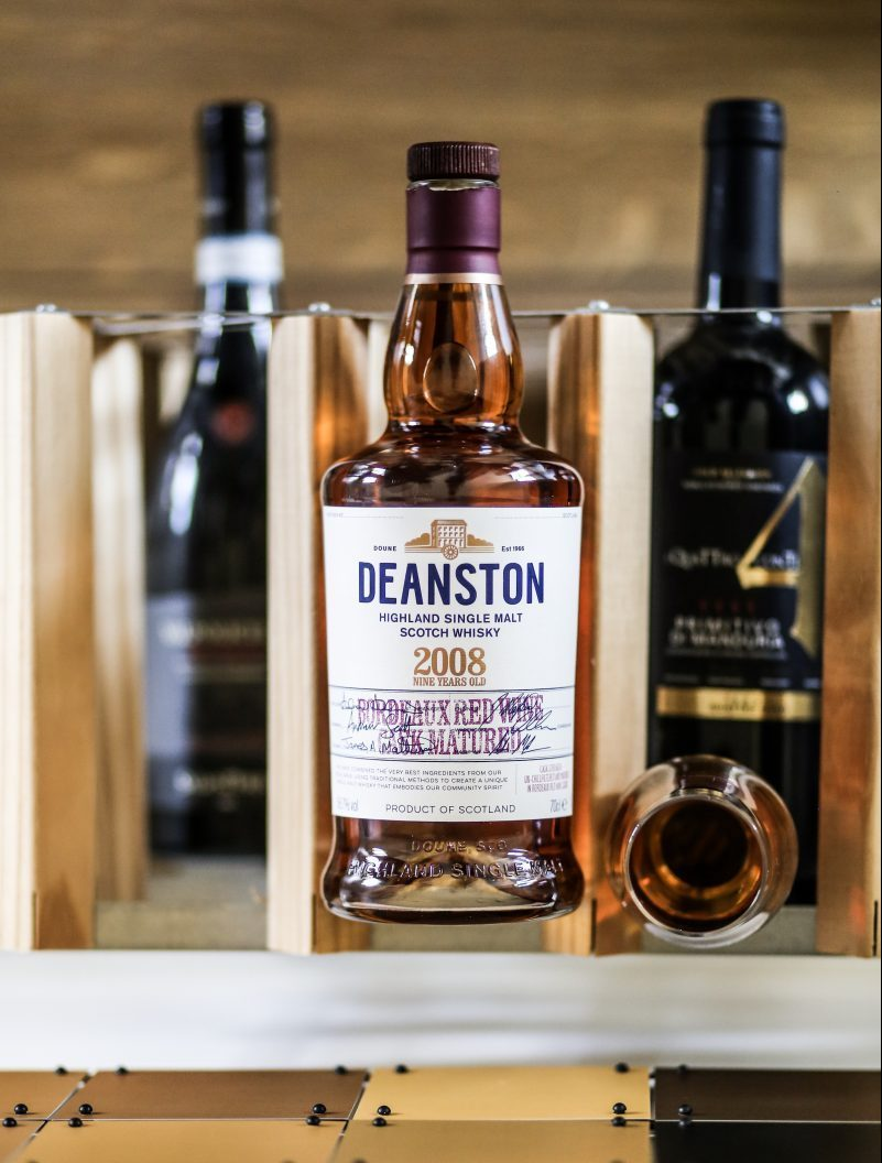 deanston bordeaux red wine cask matured 2008