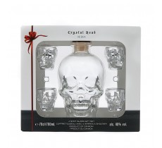Crystal Head met 4 shotglaasjes in doos