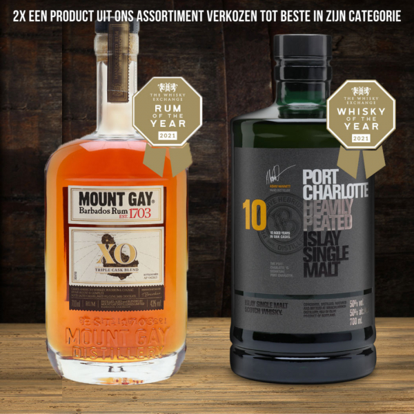 Mount Gay XO en Port Charlotte 10 verkozen tot beste in hun categorie!